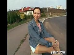 Watch stream video category blowjob (300 sec). Outdoor blowjob with honey.