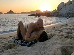Full sexual video category sexy (182 sec). Kissa Sins missionary sex on beach.