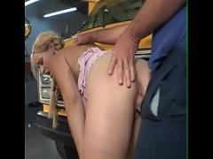 Best videotape recording category cumshot (1133 sec). Schoolgirl smoke in bus and get a big dick to smoke.