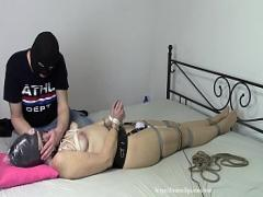 Embed pornography category milf (712 sec). Wife in bondage and with plastic bag.