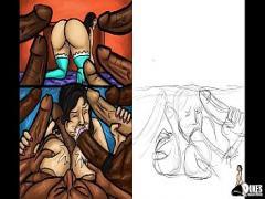 Nice video category latina (712 sec). Latin Milf Sucks Huge black dicks! (Illustration).