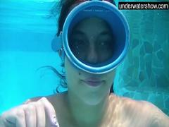 Good sexual video category teen (267 sec). Candy being licked underwater.