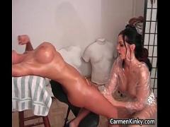 Good video link category bdsm (299 sec). Sexy Carmen sculpting her girlfriends.