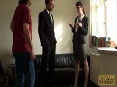Play movie category bdsm (536 sec). Amateur British brunette loves a fat cock in her ass.