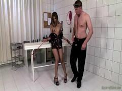 Free video category brunette (300 sec). Dirty brunette bitch comes to the doctor.