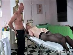 Play porno category sexy (300 sec). Three nasty babes come to the doctor.
